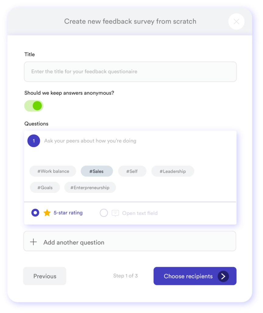 Online feedback tool - Treams - 360 graden feedback